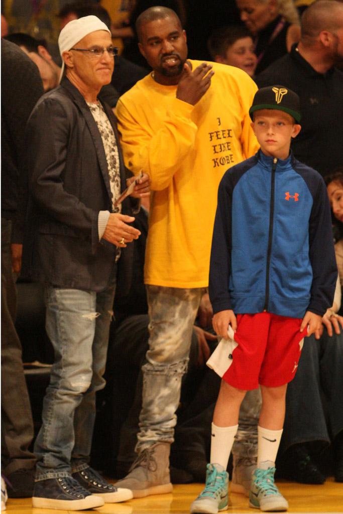 Kanye West Kobe Bryant Last Game Los Angeles Lakers