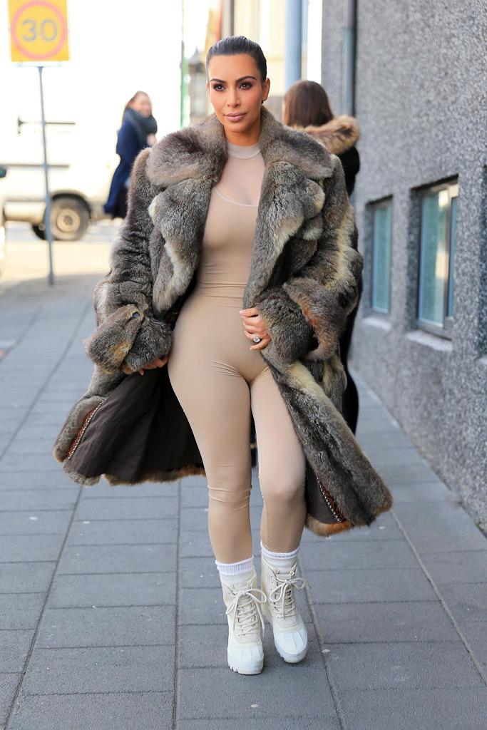 Kardashians Iceland Yeezys