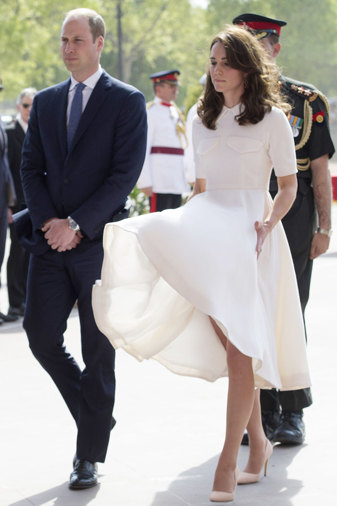 """The Duchess had a """"Marilyn Monroe"""" moment earlier in the day."""