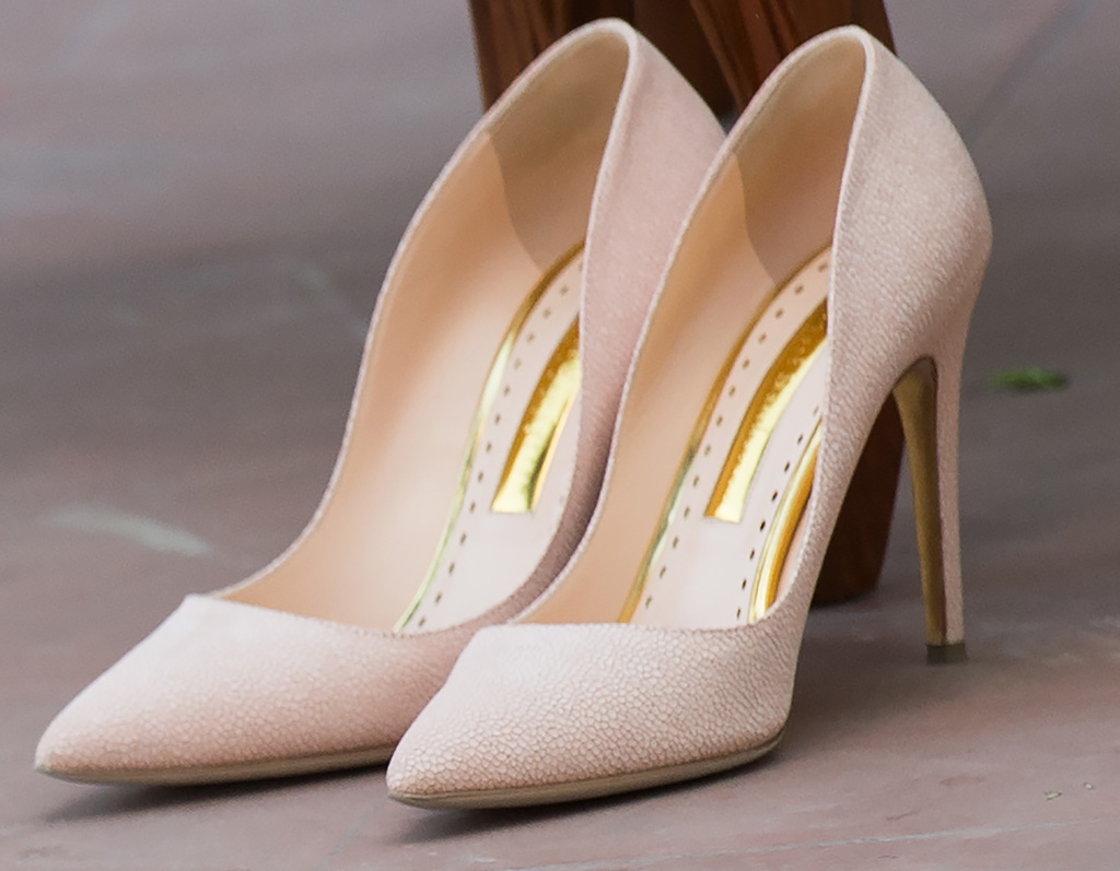 """A close-up of the """"Pink Lady"""" pumps"""