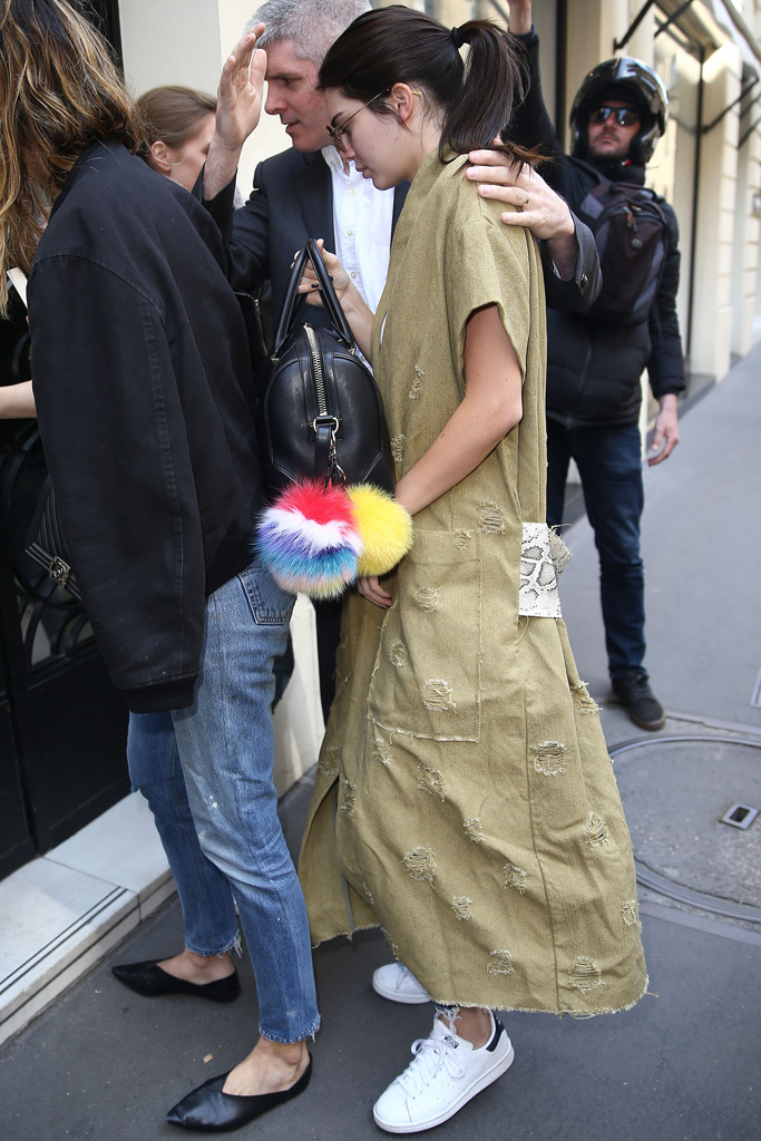Kendall Jenner Paris Stan Smith Sneakers