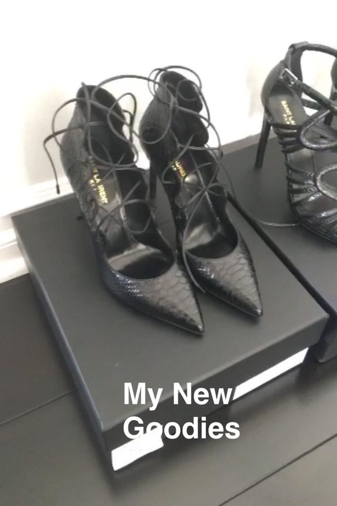 Kylie Jenner Snapchat Saint Laurent