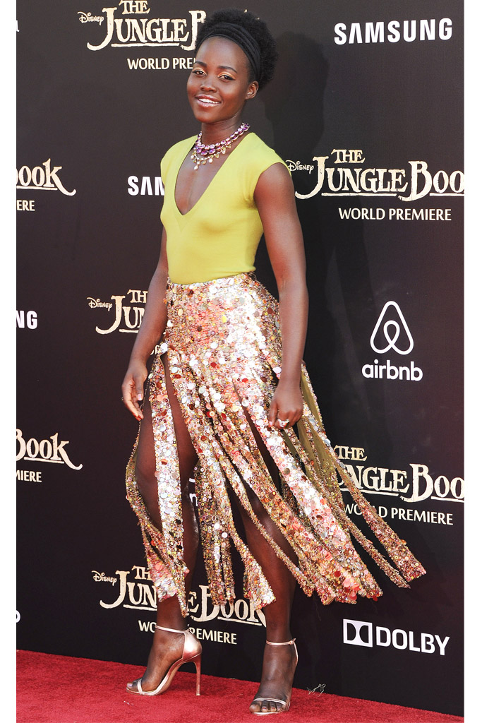 Lupita Nyongo Celebrity Statement Shoes Spring 2016