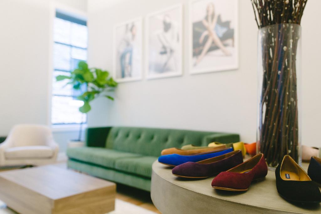 Margaux Custom Ballet Flats NYC Showroom