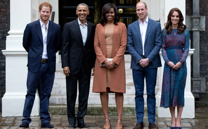 Obamas Royals Dinner London