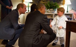 Prince George Meets Obamas