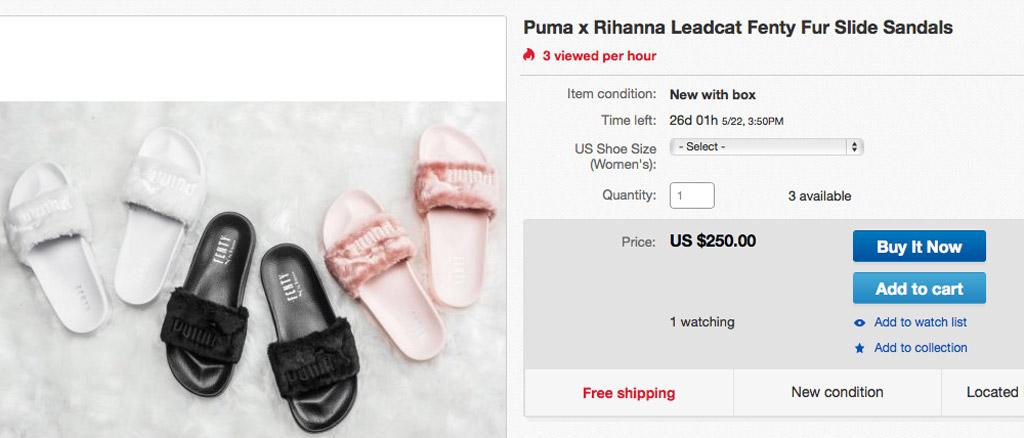 Puma Rihanna Slides Ebay