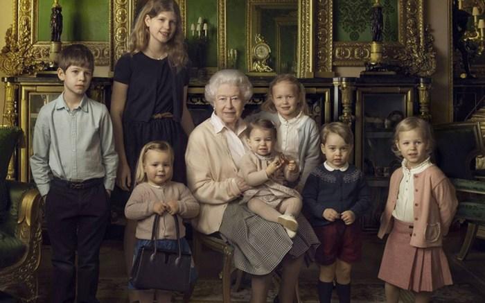 Queen Elizabeth 90th Birthday Grandchildren