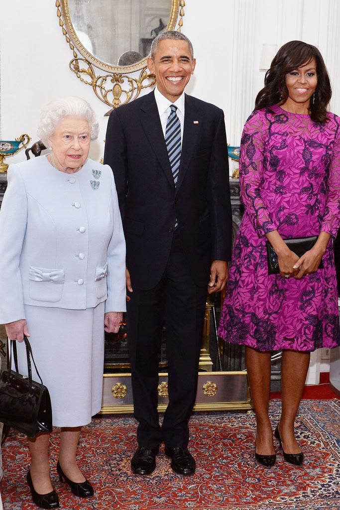 Queen Elizabeth Michelle Obama President Obama
