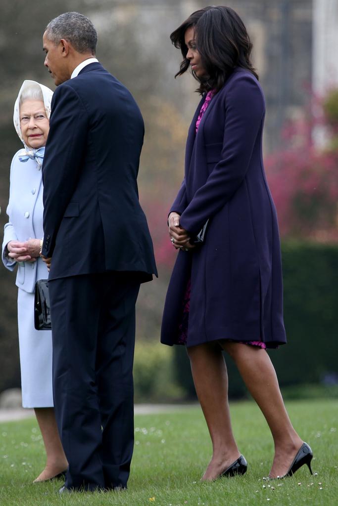 Michelle Obama President Obama Queen Elizabeth