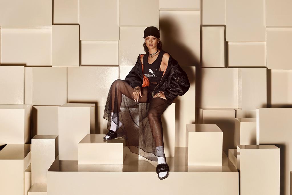 Puma by Rihanna Fur Slide Sandals Drop