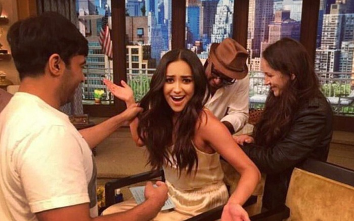 Shay Mitchell Live with Kelly and Michael