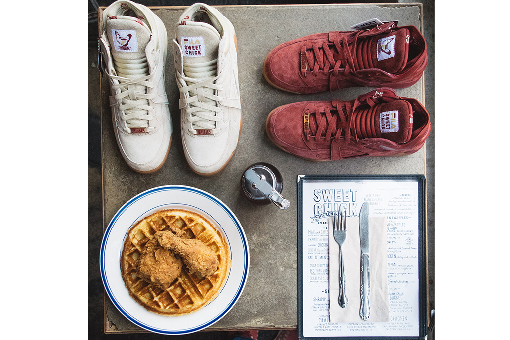 fila cage sweet chick chicken waffles