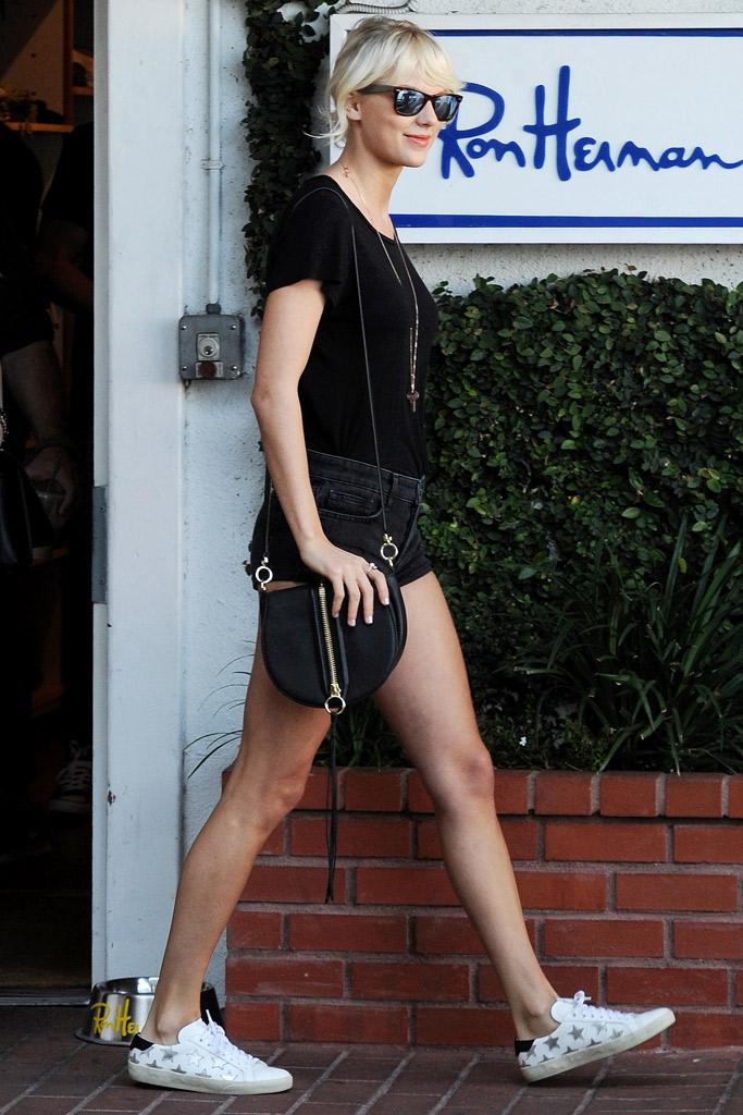 Taylor Swift Saint Laurent Sneakers Shopping LA