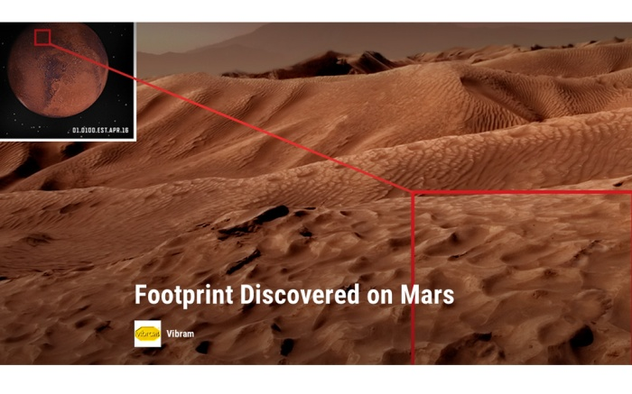 Vibram April Fools Joke Mars Footprints