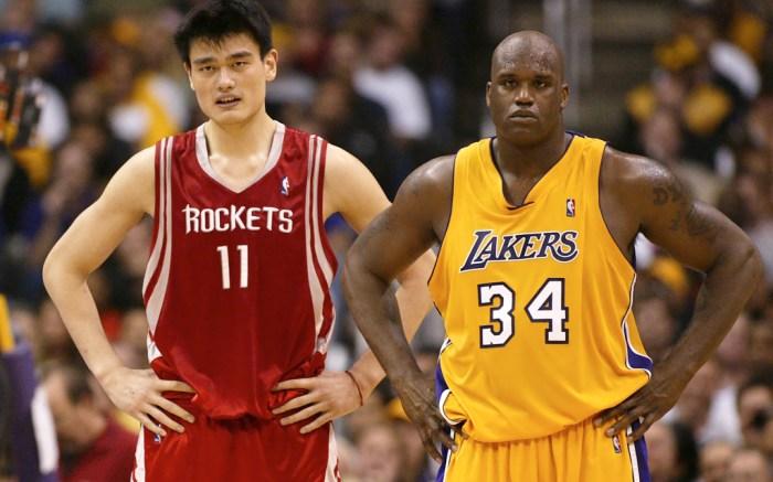 Yao Ming Shaquille O'Neal