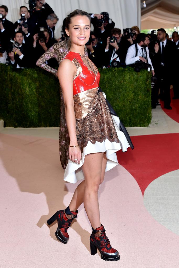 Alicia Vikander Met Gala 2016 Red Carpet Shoes