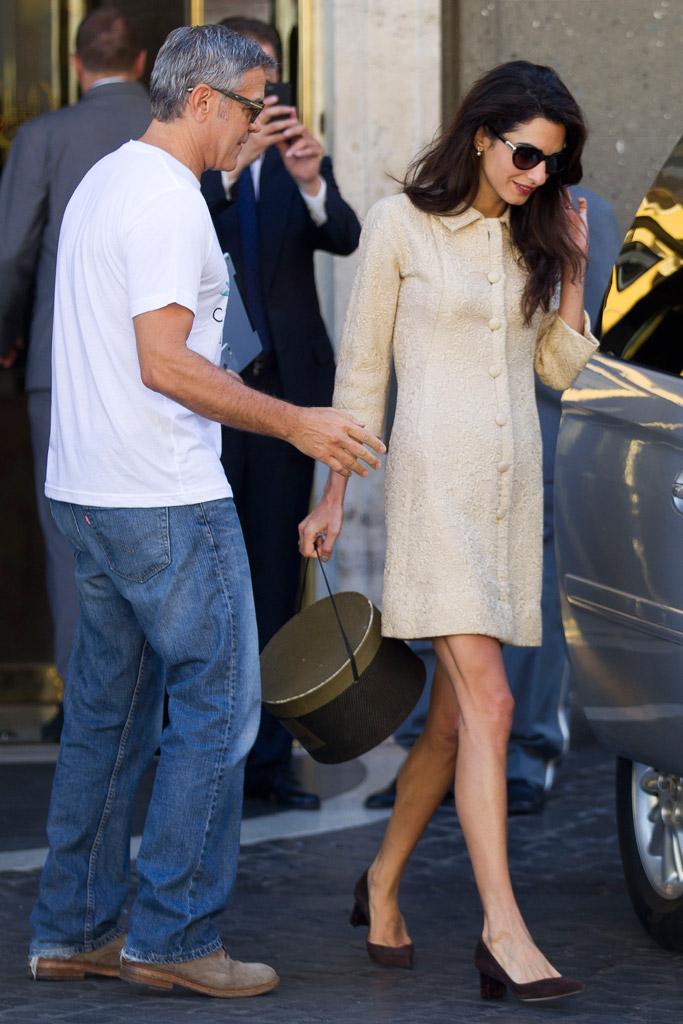 Amal Clooney Wears Sarah Flint Heels