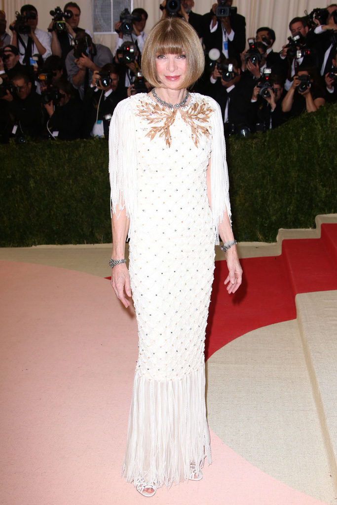 Anna Wintour Met Gala 2016 Red Carpet Shoes