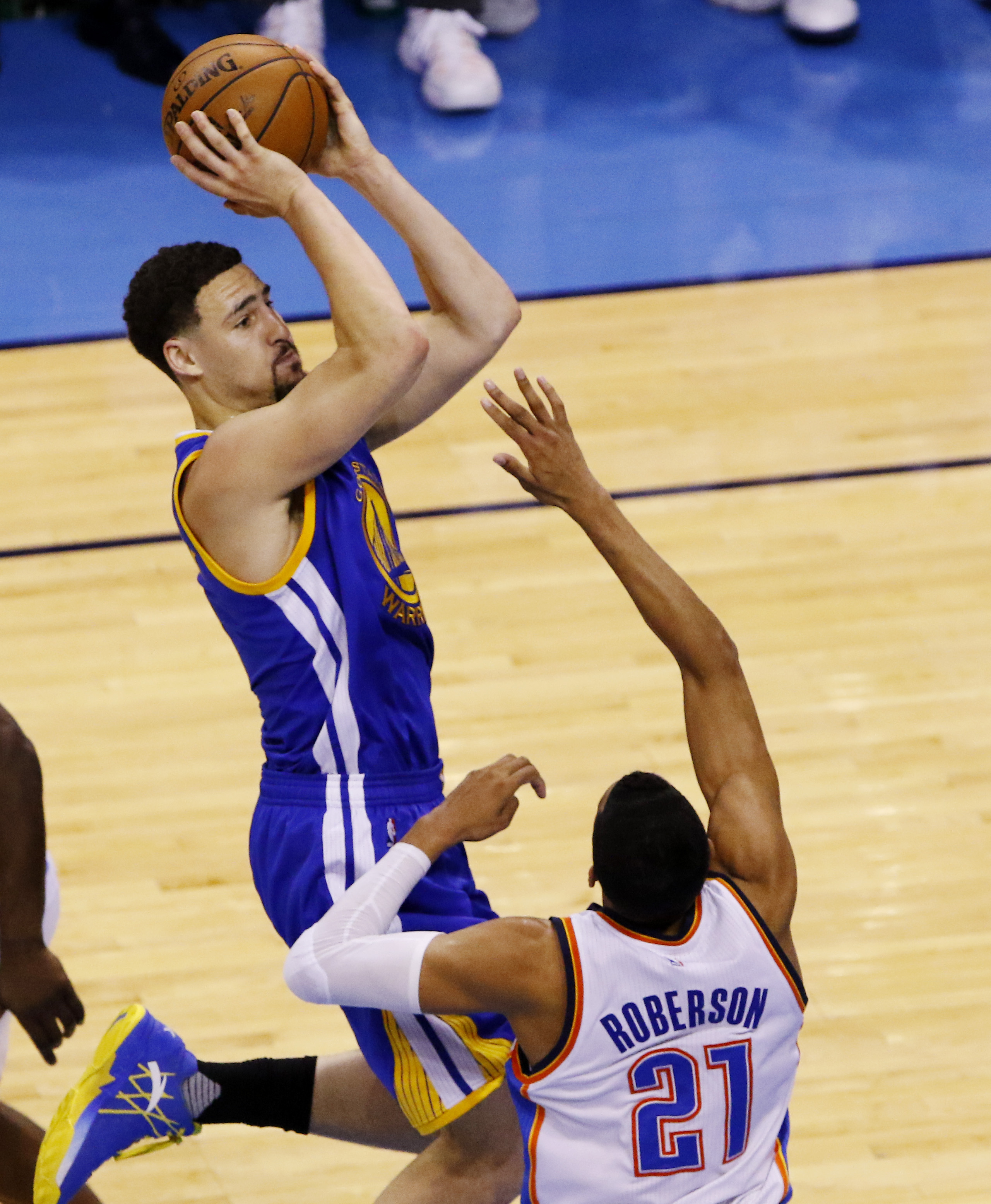 Golden State Warriors klay thompson Anta KT 1 sneakers playoff