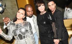 Kim Kardashian Kanye West Balmain Met