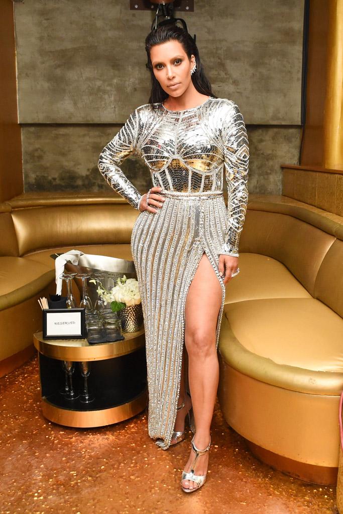 Kim Kardashian West Balmain Met Gala Party