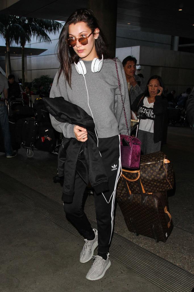 Bella Hadid Airport Travel Style