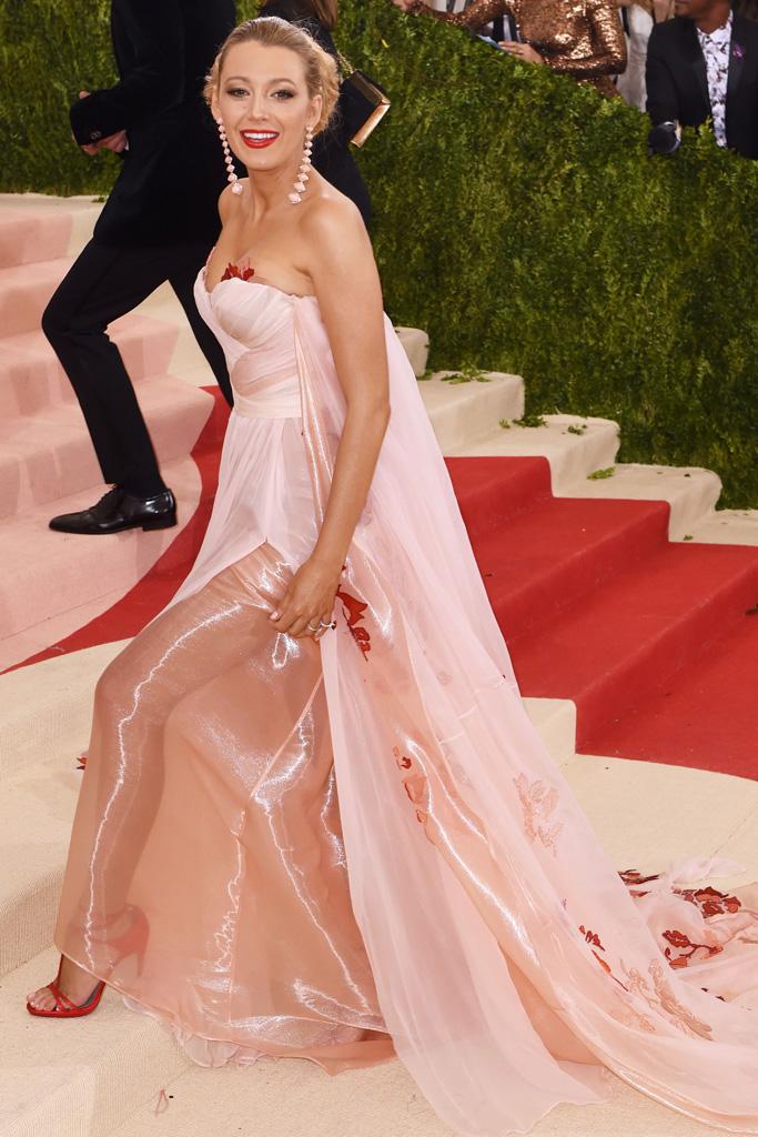 Blake Lively Met Gala 2016 Red Carpet Shoes