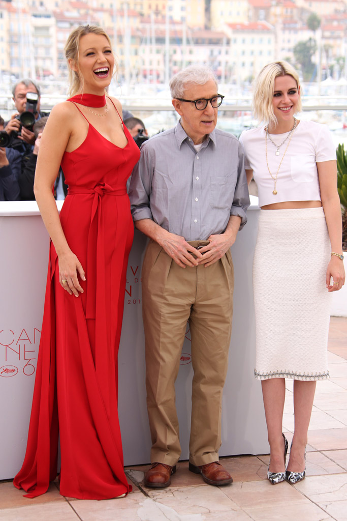 Blake Lively, Woody Allen and Kristen Stewart Café Society Photocall Cannes Film Festival