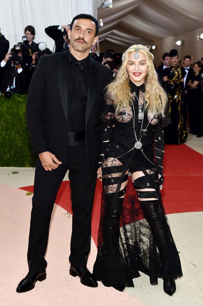 Riccardo Tisci Madonna Met Gala 2016 Red Carpet Shoes