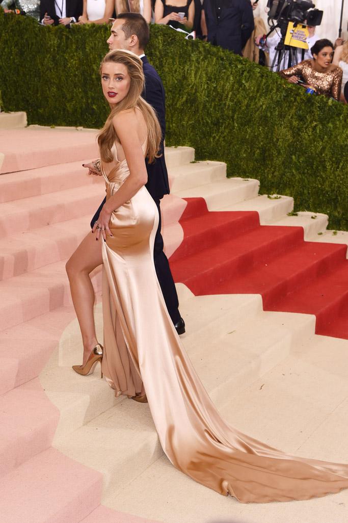 Amber Heard Met Gala 2016 Red Carpet Shoes