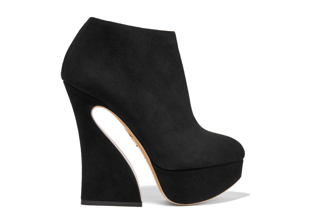 Charlotte Olympia Millie Boots Black Suede