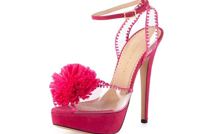 Charlotte Olympia Pom Pom Sandals Pink Sale