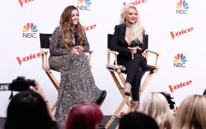 Christina Aguilera Alisan Porter The Voice