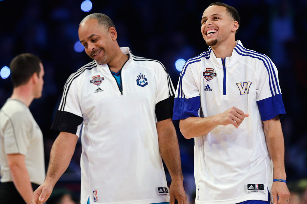 Dell Curry Stephen Curry NBA All-Star Saturday Shooting Stars