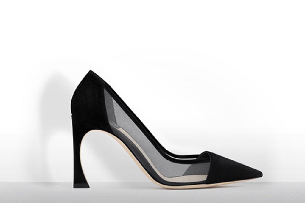 Dior Black Mesh Pumps