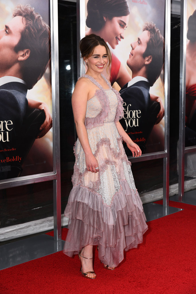 Emilia Clarke Celebrity Statement Shoes May 2016