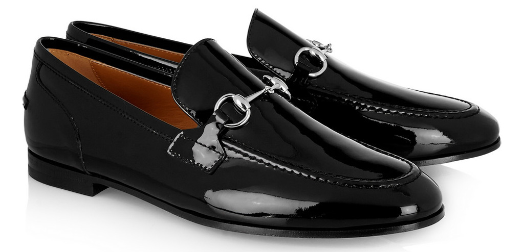 Gucci Patent Leather Loafer Black Horsebit