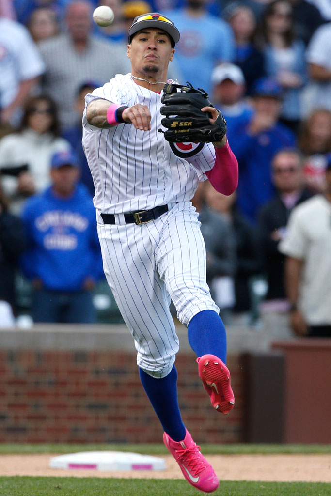 javier baez pink nike sneakers nationals