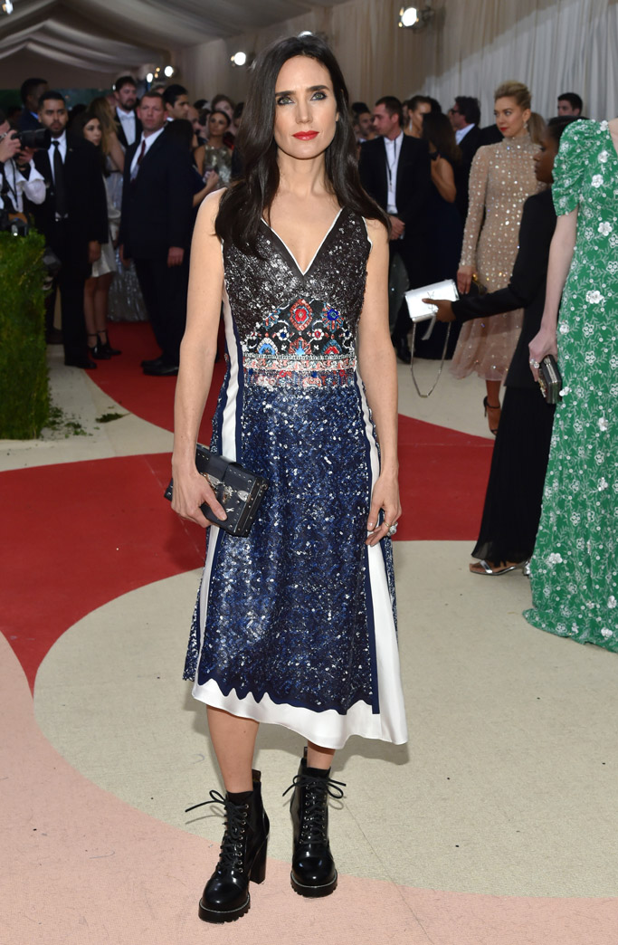 Jennifer Connelly Met Gala 2016 Red Carpet Shoes