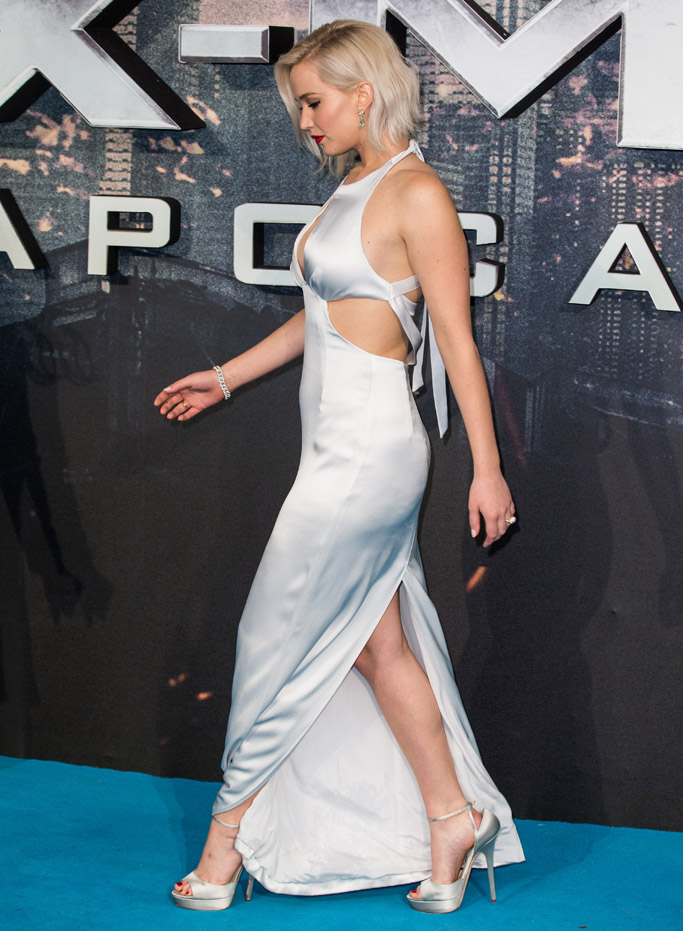 Jennifer Lawrence Celebrity Statement Shoes May 2016
