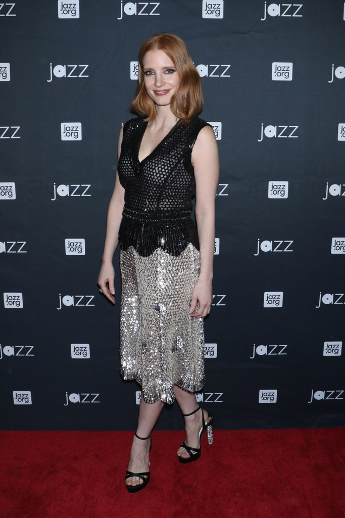 Jessica Chastain Celebrity Statement Shoes May 2016