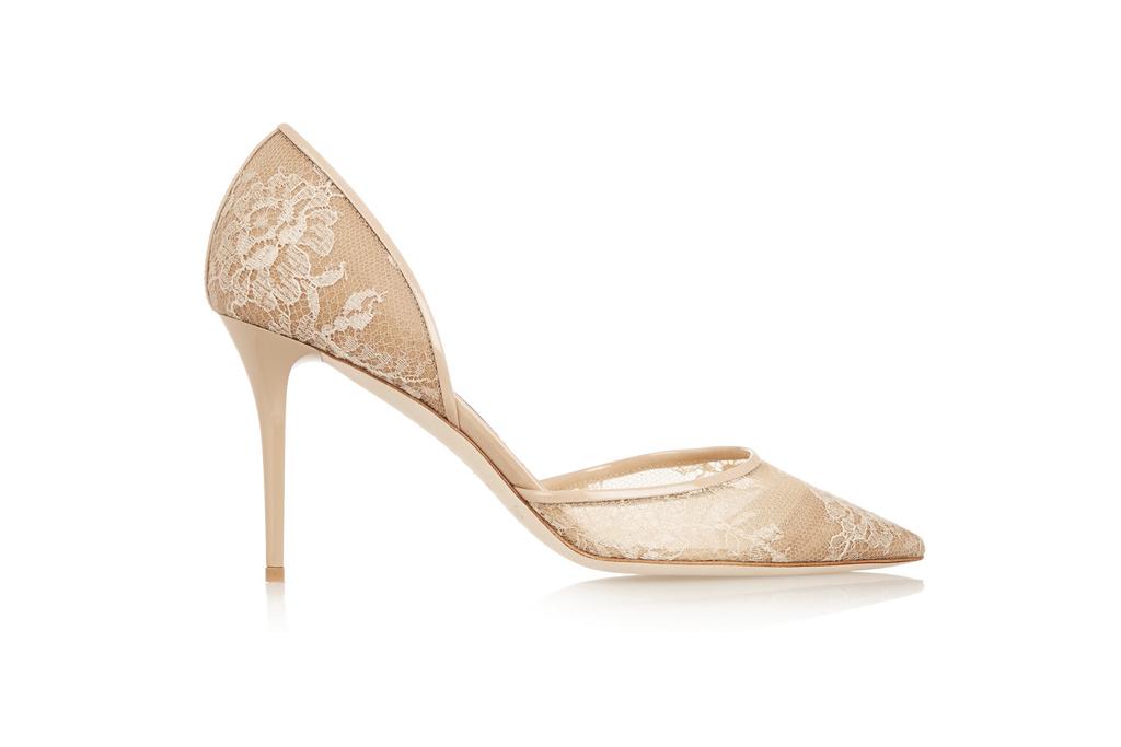 Jimmy Choo Lace Pumps Wedding Shoes