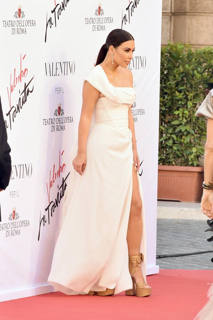 Kim Kardashian Celebrity Statement Shoes May 2016