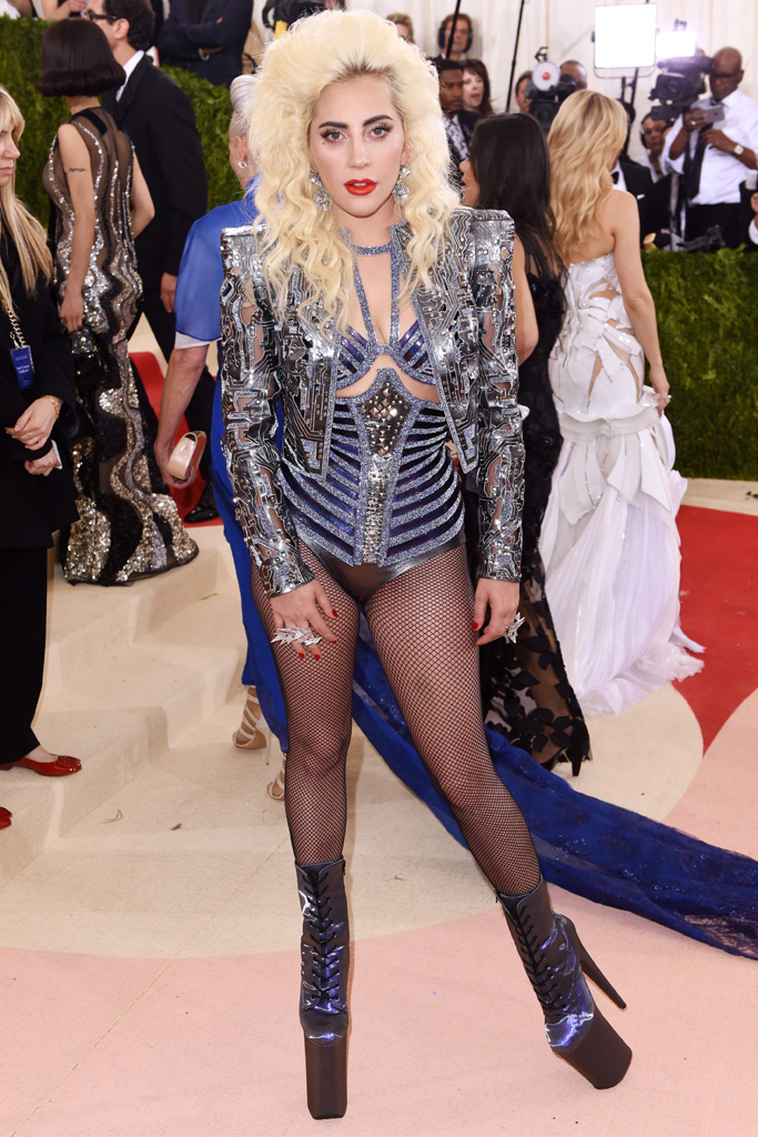 Lady Gaga Met Gala 2016 Red Carpet Shoes
