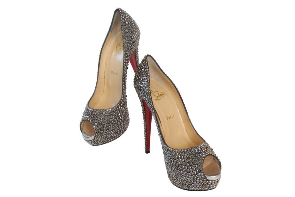 Christian Louboutin Hematite Swarovski heels