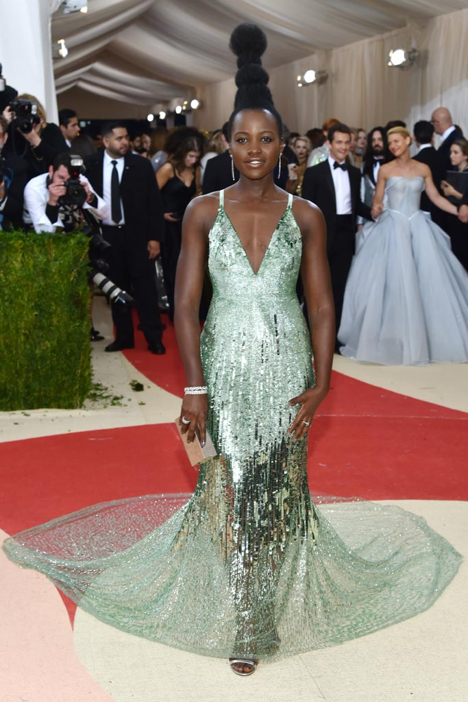Lupita Nyong'o Met Gala 2016 Red Carpet Shoes