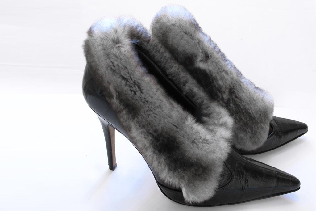 Manolo Blahnik rabbit fur