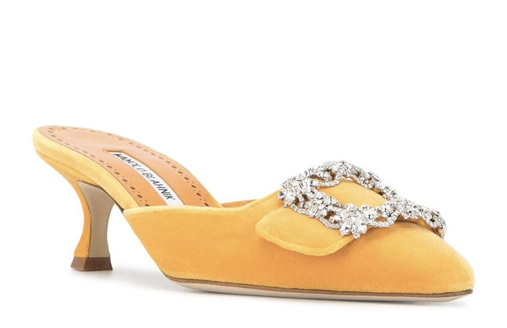 Manolo Blahnik Maysale 50mm mules, marie antoinette, movies with shoe moments