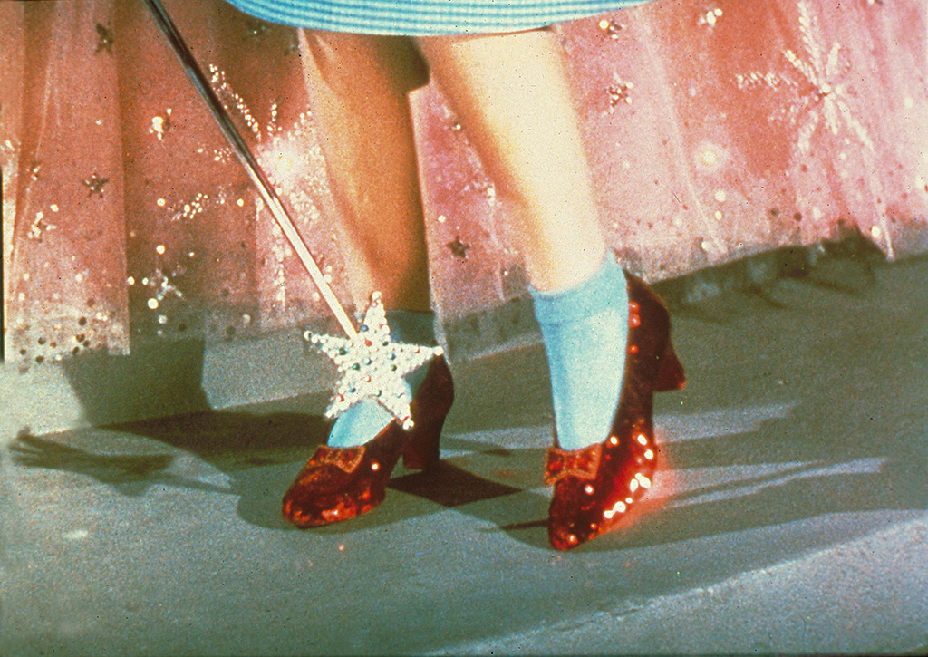The Wizard of Oz, ruby slippers movies with shoe moments